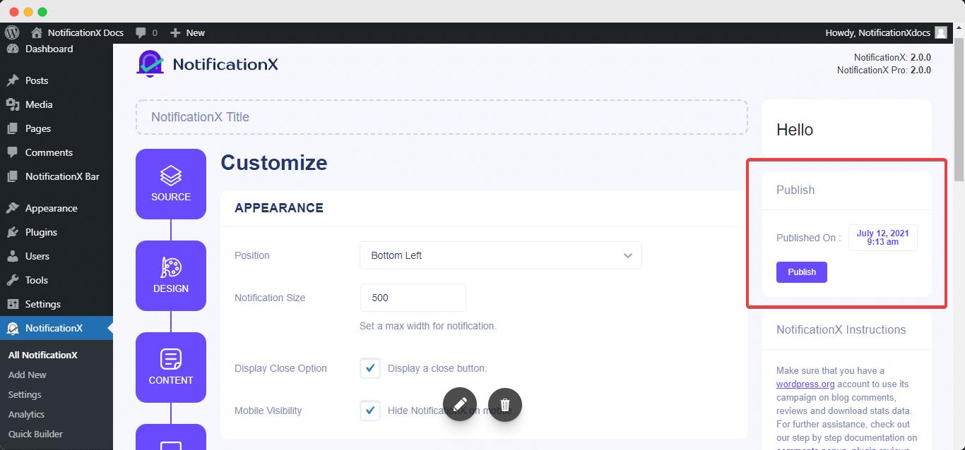 WordPress review popup