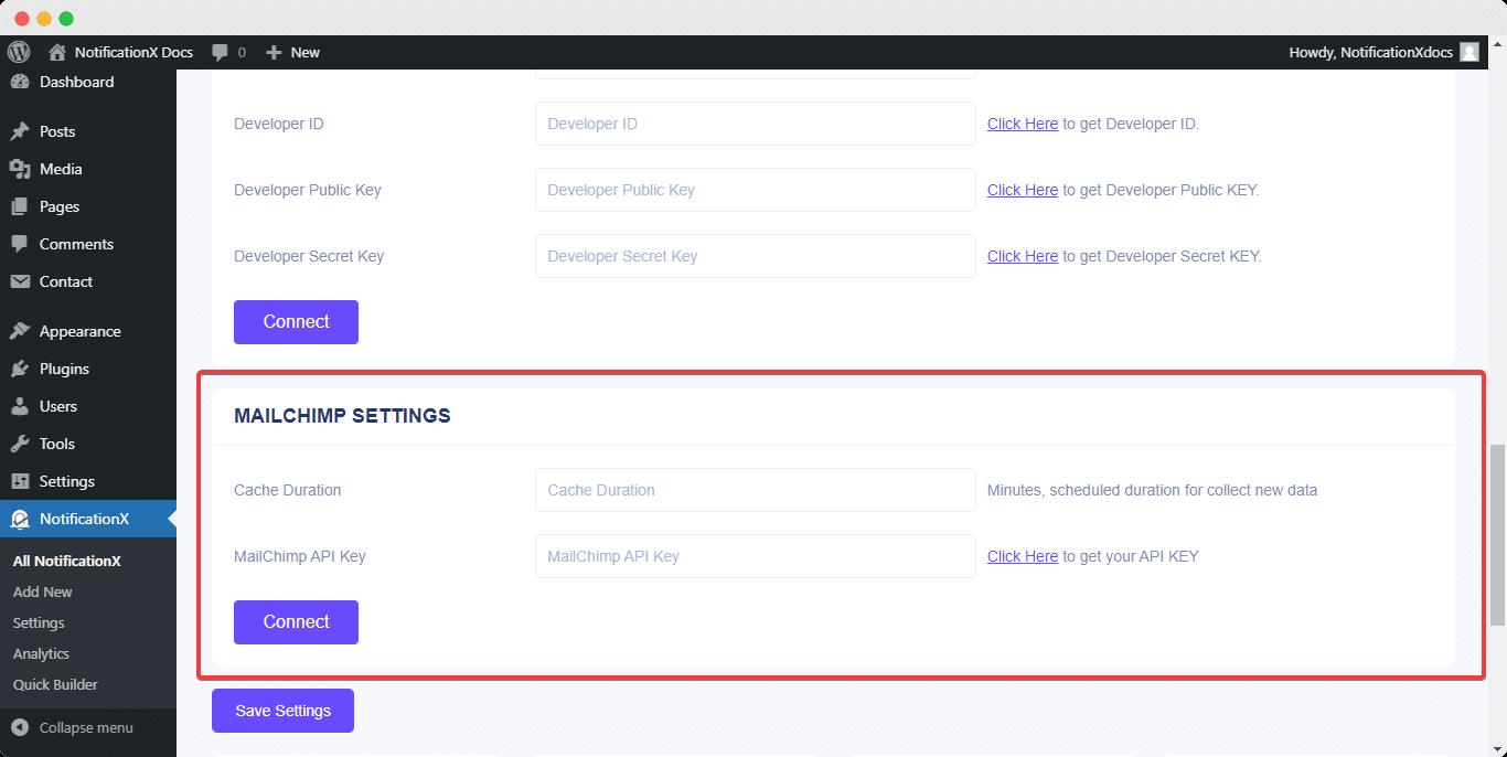MailChimp email subscription alert