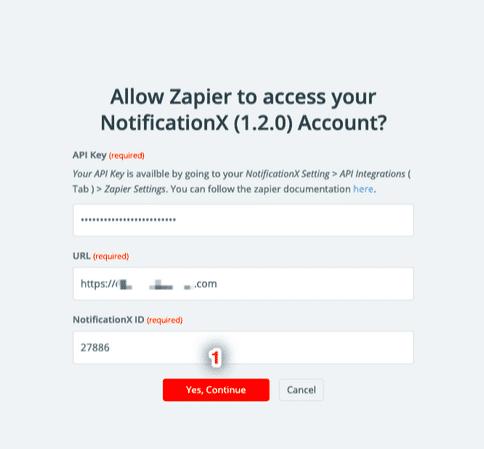 Alerta de notificación de Zapier