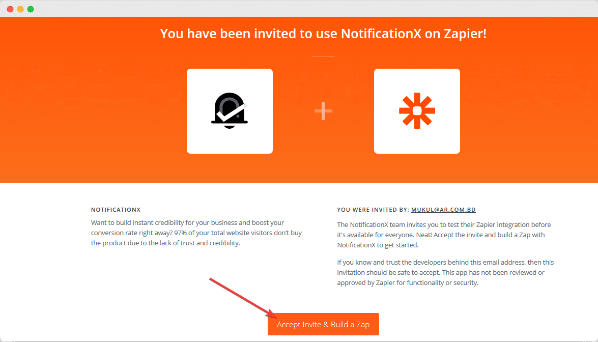 Zapier Notification Alert