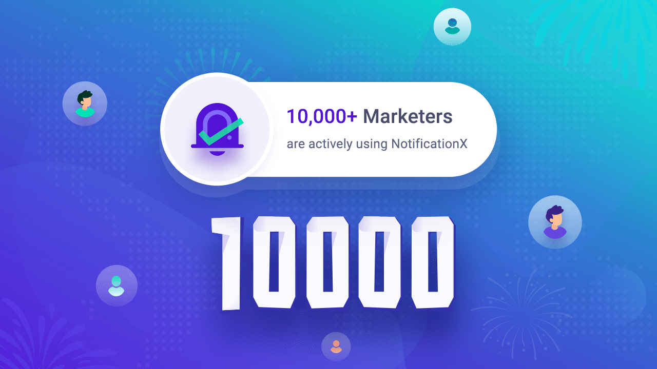 Mais de 10.000 profissionais de marketing usando o NotificationX pop-up para aumentar as taxas de conversão no WordPress