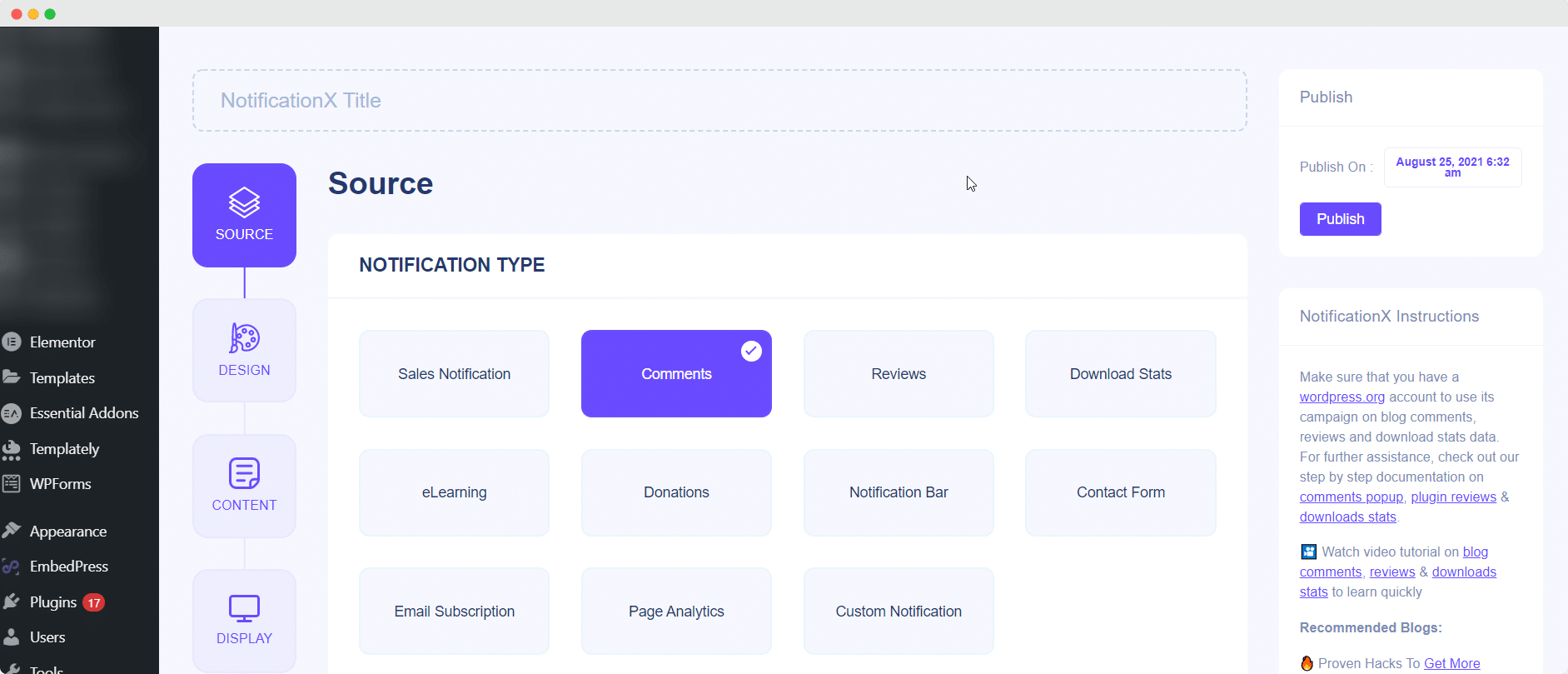 NotificationX Random Control Order