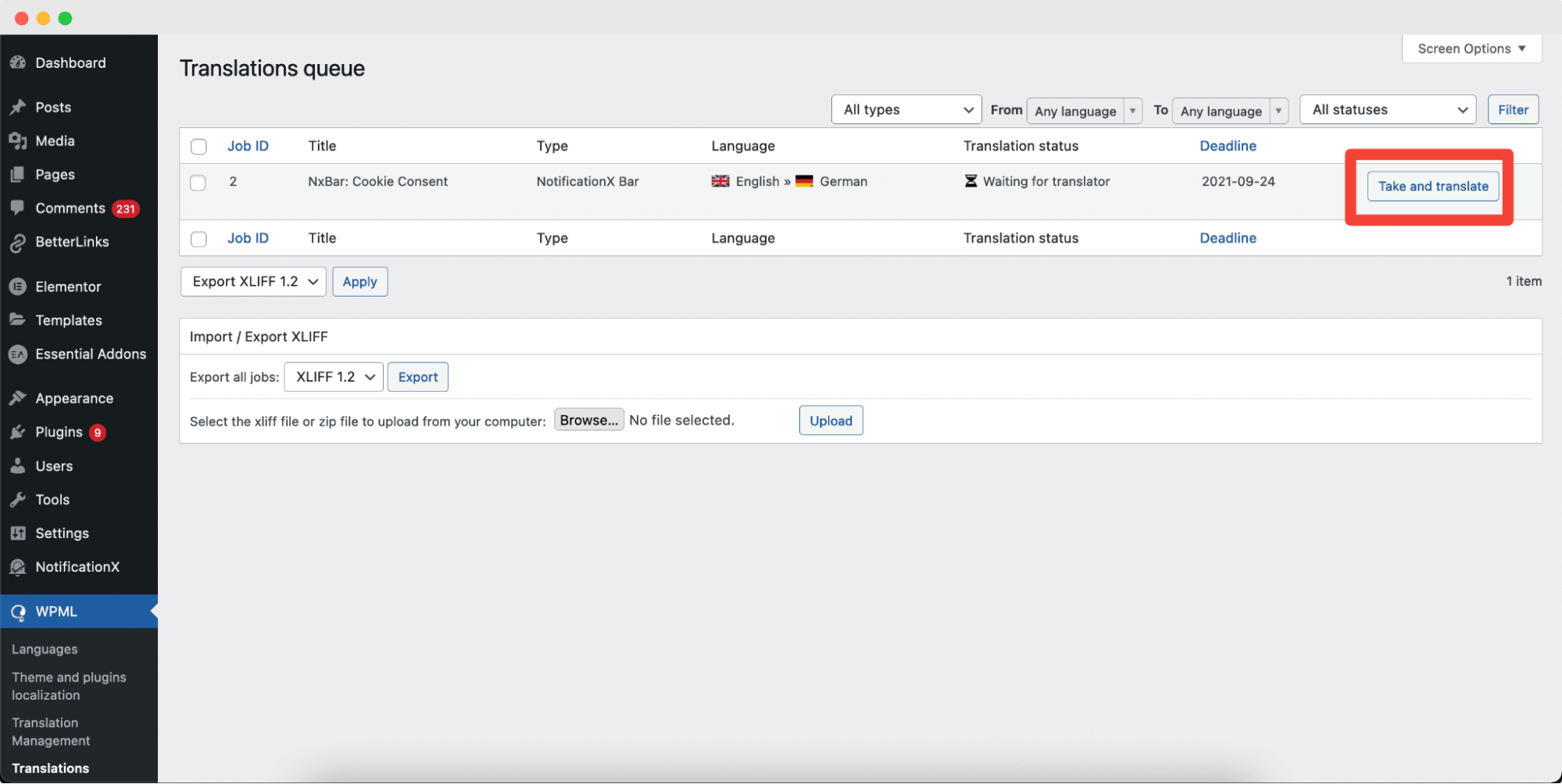 multilingual translation plugin WPML